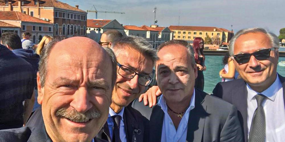 Ugo Riccio a Venezia con Carlo Zini